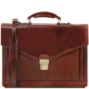 Volterra Leather Briefcase 2 Compartments
