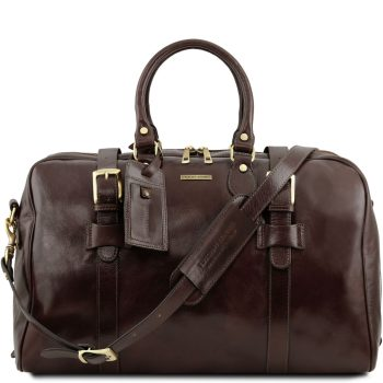 Voyager Leather Travel Bag with Front Straps - Large Size - Albon