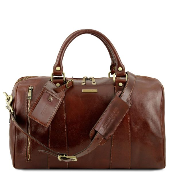 Voyager Travel Leather Duffle Bag - Small Size - Bogy