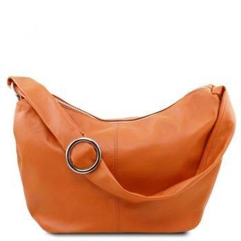 YVETTE Leather hobo bag