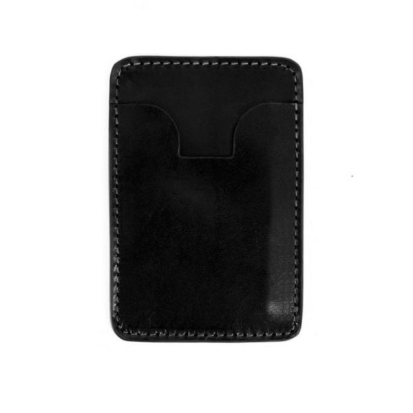 Black Leather Credit Card Case Business Card Case - 1984