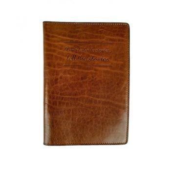 Brown Large Leather Passport Holder - Gulliver's Travels