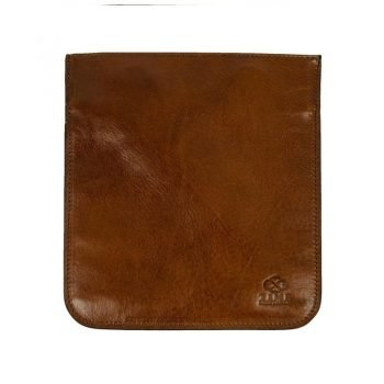 Brown Leather Organizer Accessory Case - The Secret Garden
