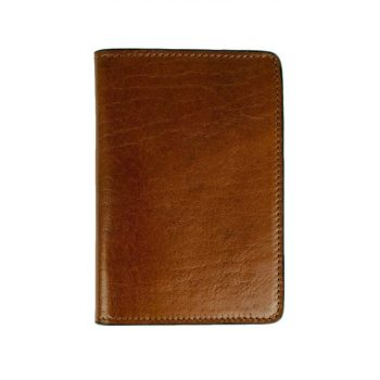 Brown Small Leather Passport Holder - Gulliver's Travels