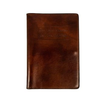 Dark Brown Large Leather Passport Holder - Gulliver's Travels
