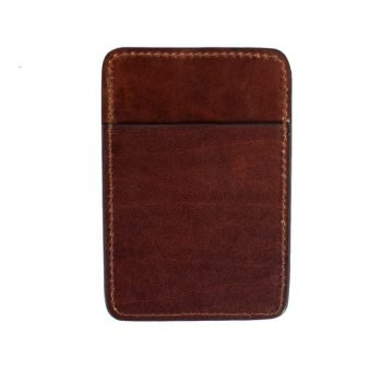 Dark Brown Leather Credit Card Case Business Card Case - 1984 2
