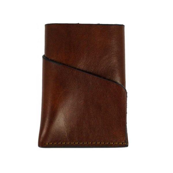 Dark Brown Leather Credit Card Holder - Practical magic