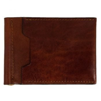 Dark Brown Leather Money Clip Wallet - Tom Jones