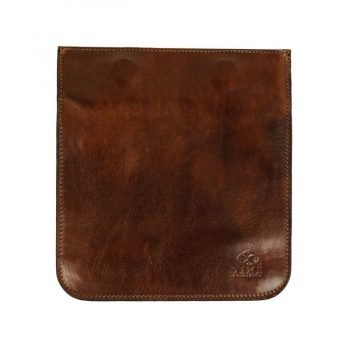 Dark Brown Leather Organizer Accessory Case - The Secret Garden