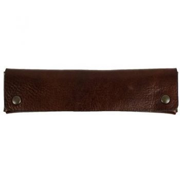 Dark Brown Leather Pen Case Holder - Appointment in Samara