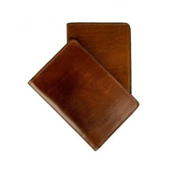 Dark Brown Small Leather Passport Holder - Gulliver's Travels