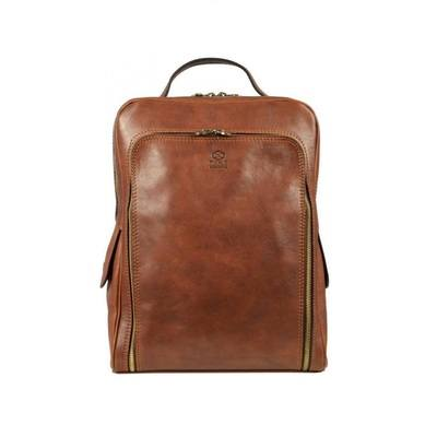 OldSchool Brown Leather Backpack