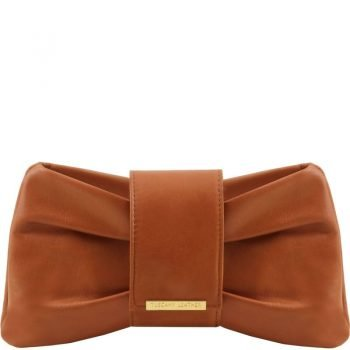 Clutch leather handbag PRISCILLA