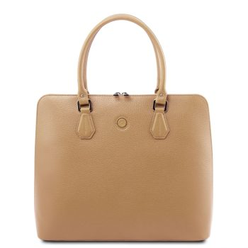 Leather Business Bag For Women - Magnolia