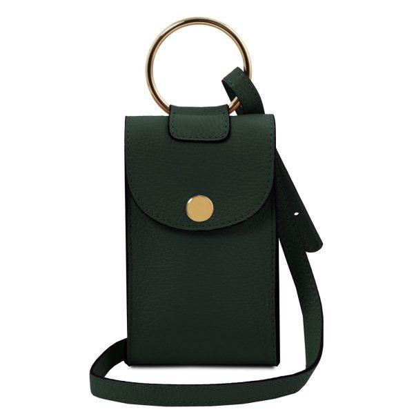 Leather Cellphone Holder Mini Cross Bag