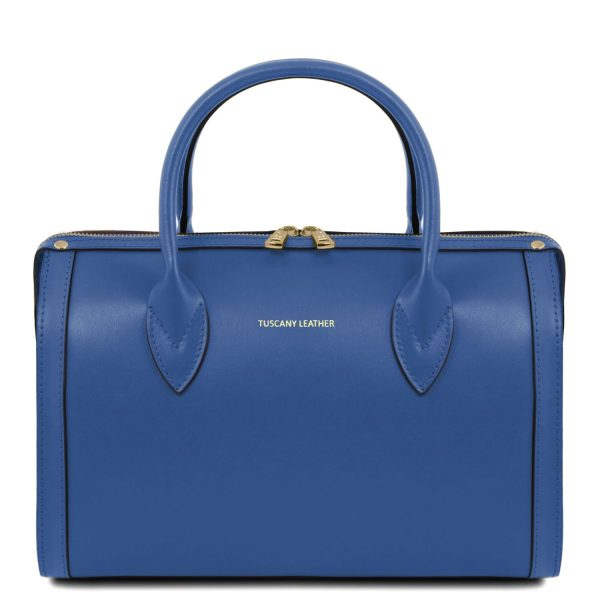 Leather Duffle Bag - Elena