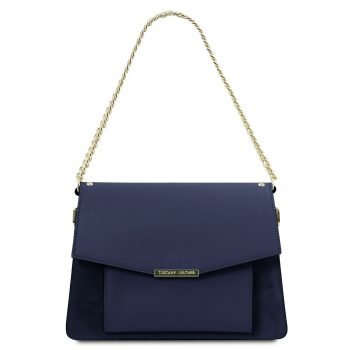 Leather Handbag With Chain Strap - Andromeda