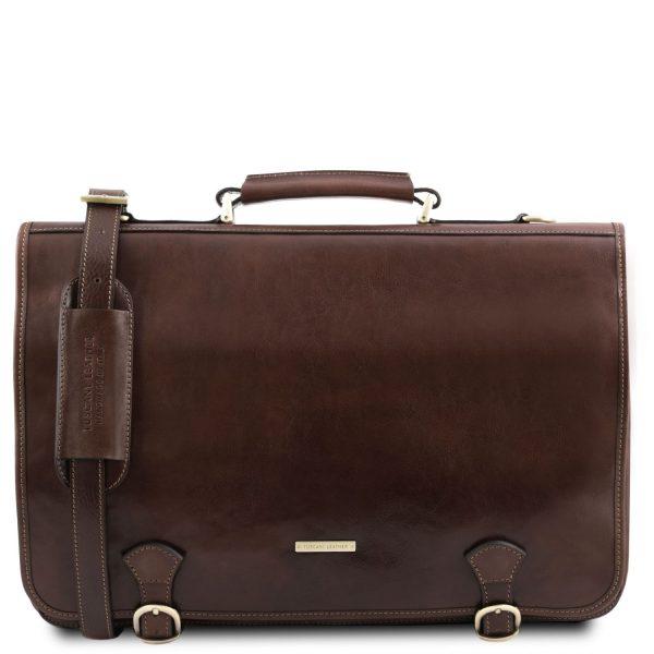 Leather Messenger Bag - Ancona