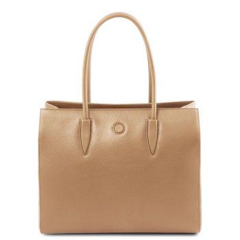 Leather Shoulder Bag - Orhidea