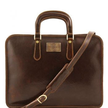Leather briefcase for women 1 compartment ALBA