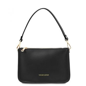 Leather clutch handbag CASSANDRA