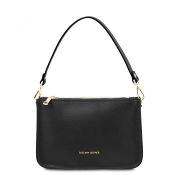 Leather clutch handbag CASSANDRA