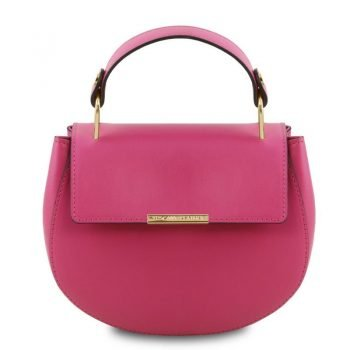 Leather handbag LUNA