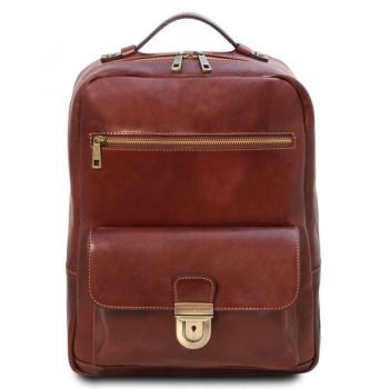 Leather laptop backpack KYOTO