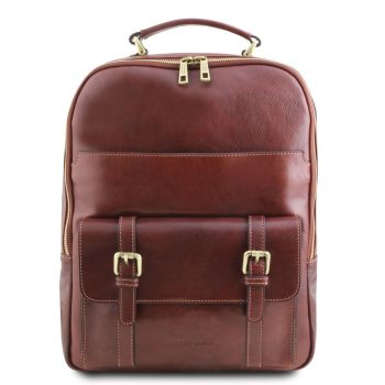 Leather laptop backpack NAGOYA