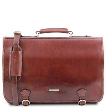 Leather messenger bag ANCONA