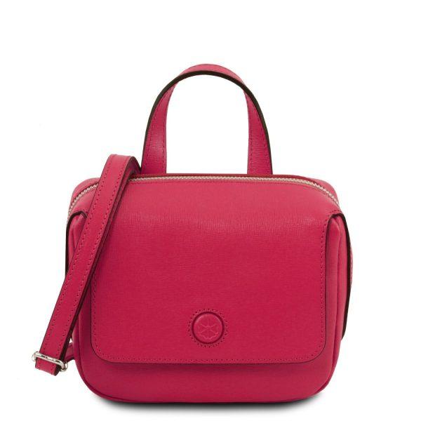 Saffiano Leather Mini Bag - Dalia