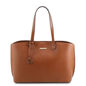 Soft Leather Tote Bag - Barjac