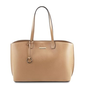 Soft leather tote bag TL BAG