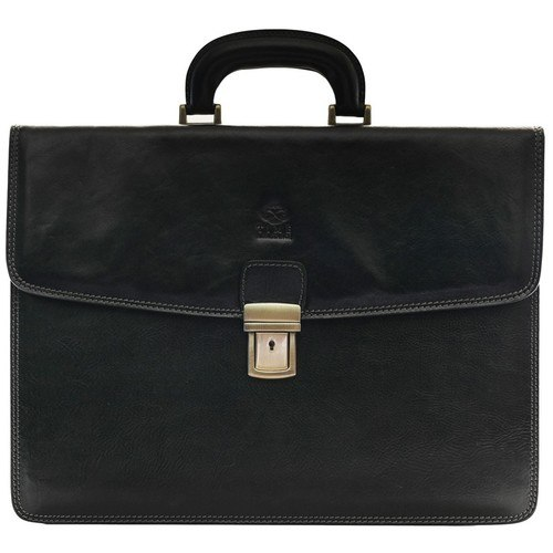 Solid Black Business Briefcase