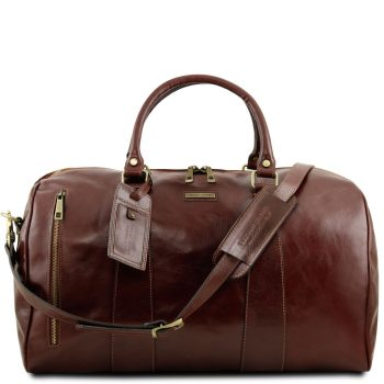 Travel Leather Duffle Bag - Large size - Milhaud