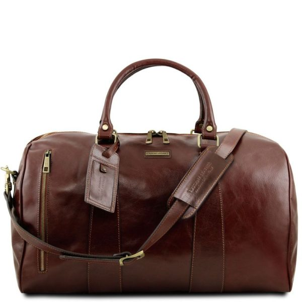 Travel leather duffle bag TL VOYAGER - Large size