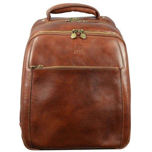 Geek's Brown Leather Backpack