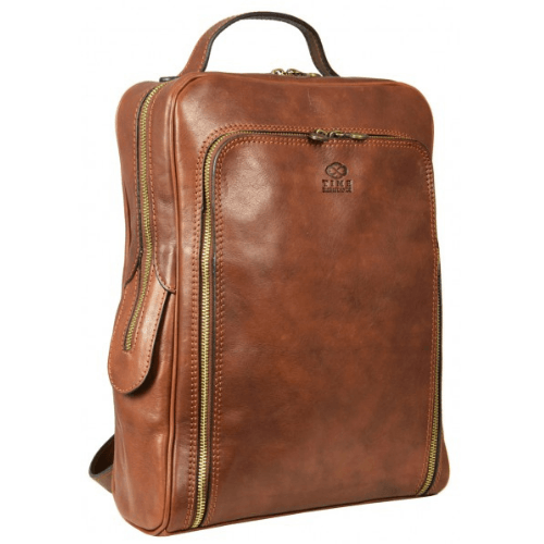 Old School Brown Leather Backpack – The Sun Also Rises
