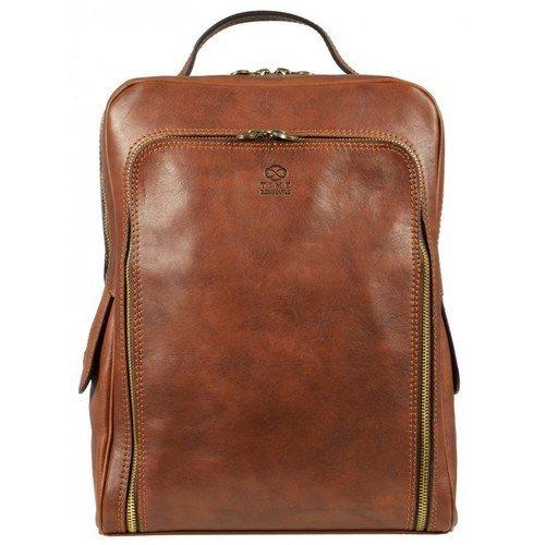 Oldschool Brown Leather Backpack