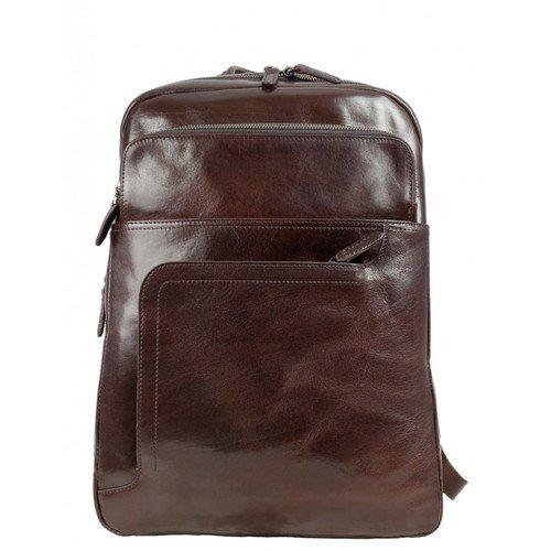 Stylish Aubergine Leather Backpack