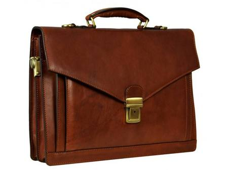 Brown Premium Leather Briefcase