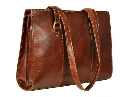 Long Handle Brown Tote Bag For Women