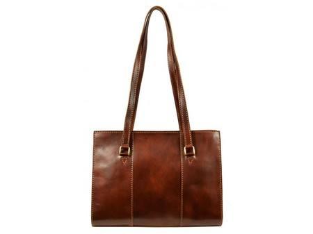 Long Handle Brown Tote Bag For Women