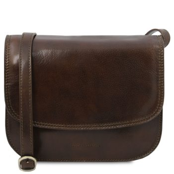 Lady Leather Bag - Greta - Dark Brown
