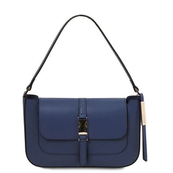 Leather Clutch Handbag - Noemi