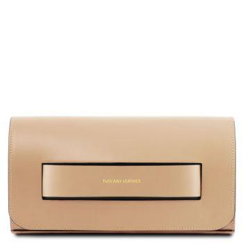Leather Clutch Handbag - Sophia