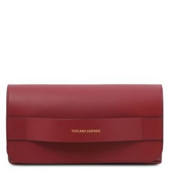 Leather Clutch With Chain Strap - Giulia
