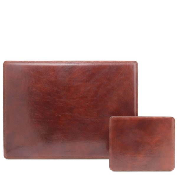 Leather Desk Pad and Mouse Pad - Office Set