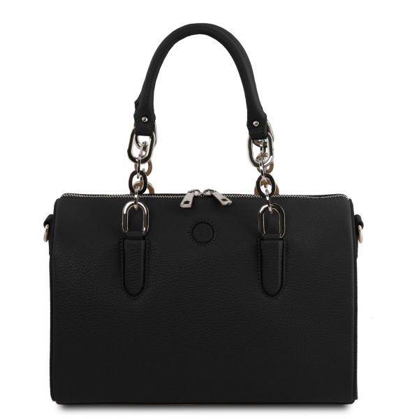 Leather Duffle Bag - Narciso