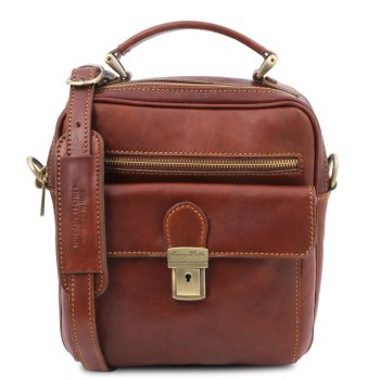 Leather Shoulder Crossbody Bag For Men - Brian